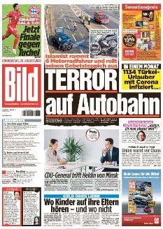 Bild-Zeitung 20. August 2020