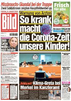 Bild-Zeitung 21. August 2020