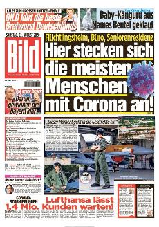 Bild-Zeitung 22. August 2020