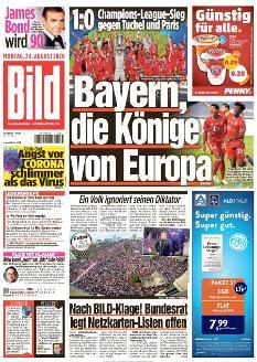 Bild-Zeitung 24. August 2020