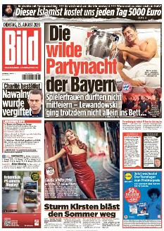 Bild-Zeitung 25. August 2020