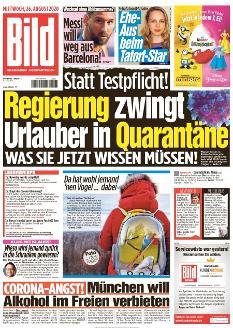 Bild-Zeitung 26. August 2020