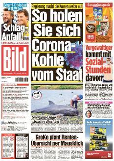Bild-Zeitung 27. August 2020