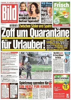 Bild-Zeitung 28. August 2020