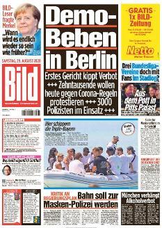 Bild-Zeitung 29. August 2020