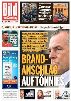 Bild-Zeitung 30. August 2020