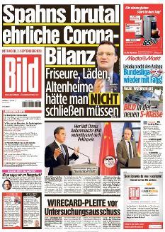 Bild-Zeitung 2. September 2020