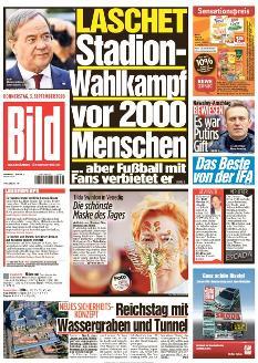 Bild-Zeitung 3. September 2020