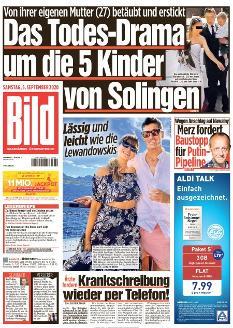 Bild-Zeitung 5. September 2020