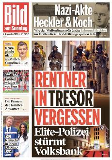Bild-Zeitung 6. September 2020