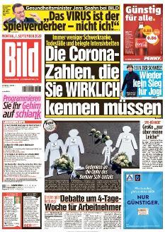 Bild-Zeitung 7. September 2020