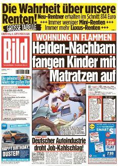 Bild-Zeitung 8. September 2020