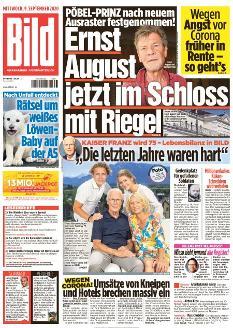 Bild-Zeitung 9. September 2020