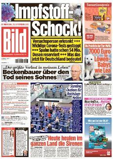 Bild-Zeitung 10. September 2020