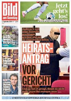 Bild-Zeitung 13. September 2020