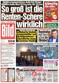 Bild-Zeitung 14. September 2020