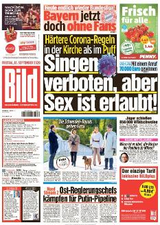 Bild-Zeitung 18. September 2020
