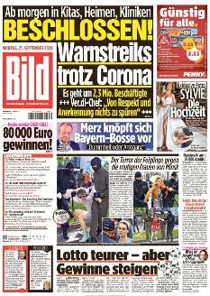 Bild-Zeitung 21. September 2020