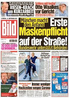 Bild-Zeitung 22. September 2020