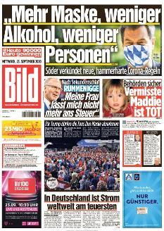 Bild-Zeitung 23. September 2020
