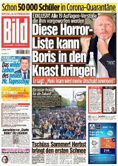 Bild-Zeitung 26. September 2020