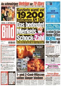 Bild-Zeitung 29. September 2020