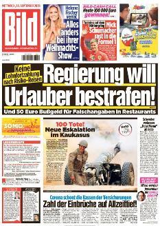 Bild-Zeitung 30. September 2020