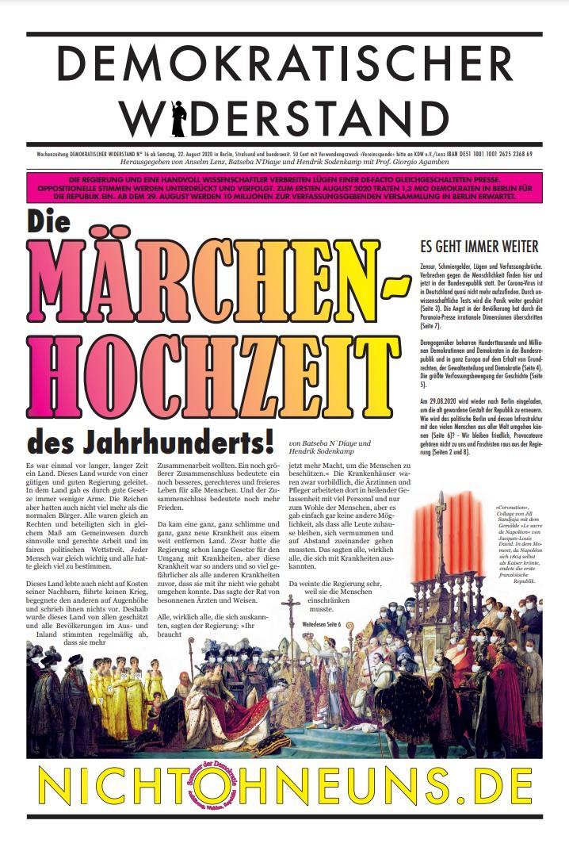 Cover Demokratischer Widerstand Zeitung 16 2020