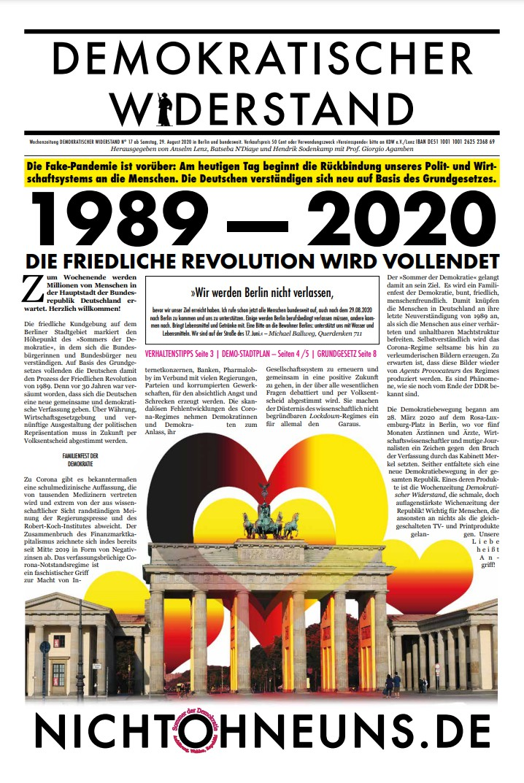 Cover Demokratischer Widerstand Zeitung 17 2020