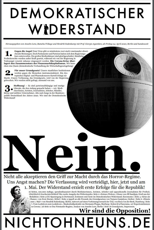 Cover Demokratischer Widerstand Zeitung 2 2020