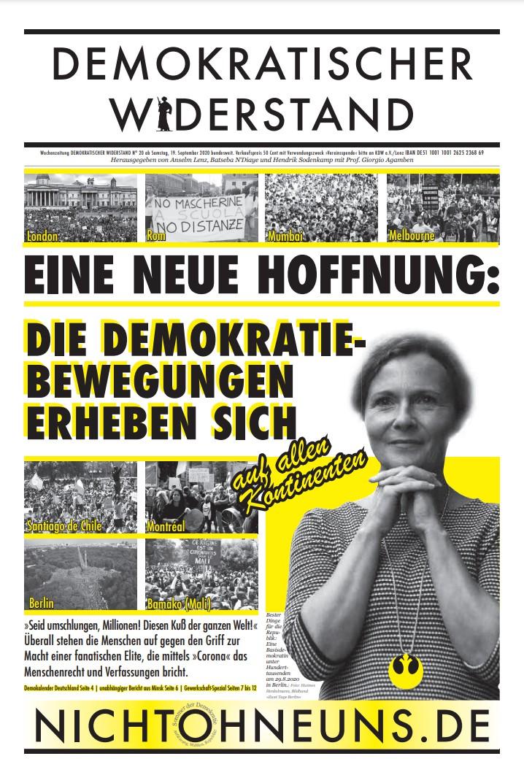 Cover Demokratischer Widerstand Zeitung 20 2020