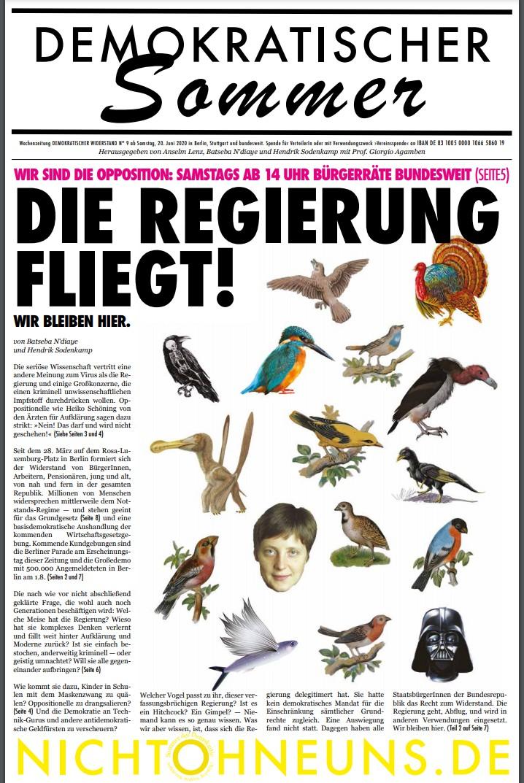 Cover Demokratischer Widerstand Zeitung 9 2020