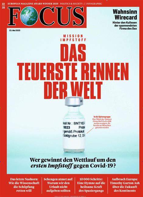 Cover Focus-Zeitschrift 22 2020