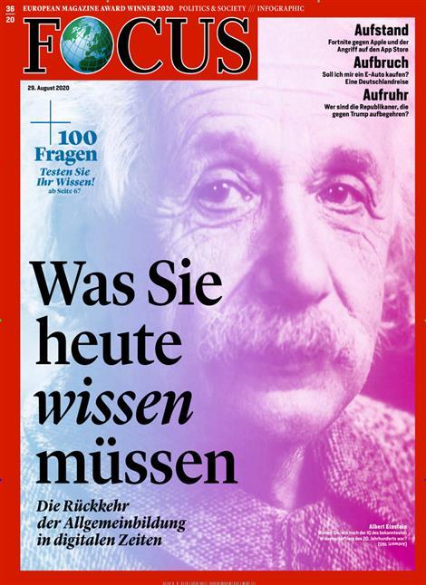 Cover Focus-Zeitschrift 36 2020