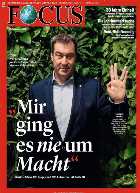 Cover Focus-Zeitschrift 39 2020